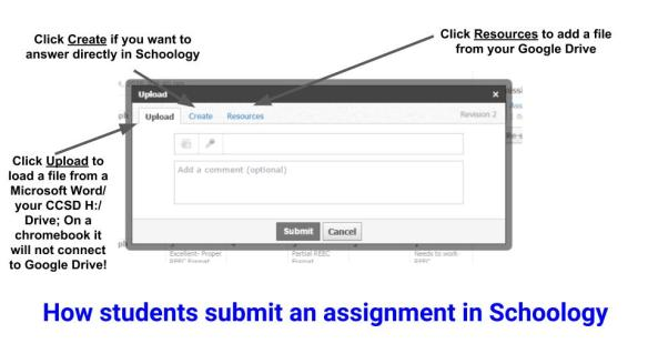 _3 Ways to Submit an Assignment in Schoology